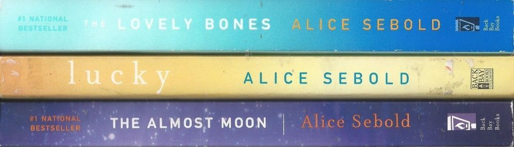 Alice Sebold X3 Paperback Lot Lovely Bones Lucky Almost Noon The