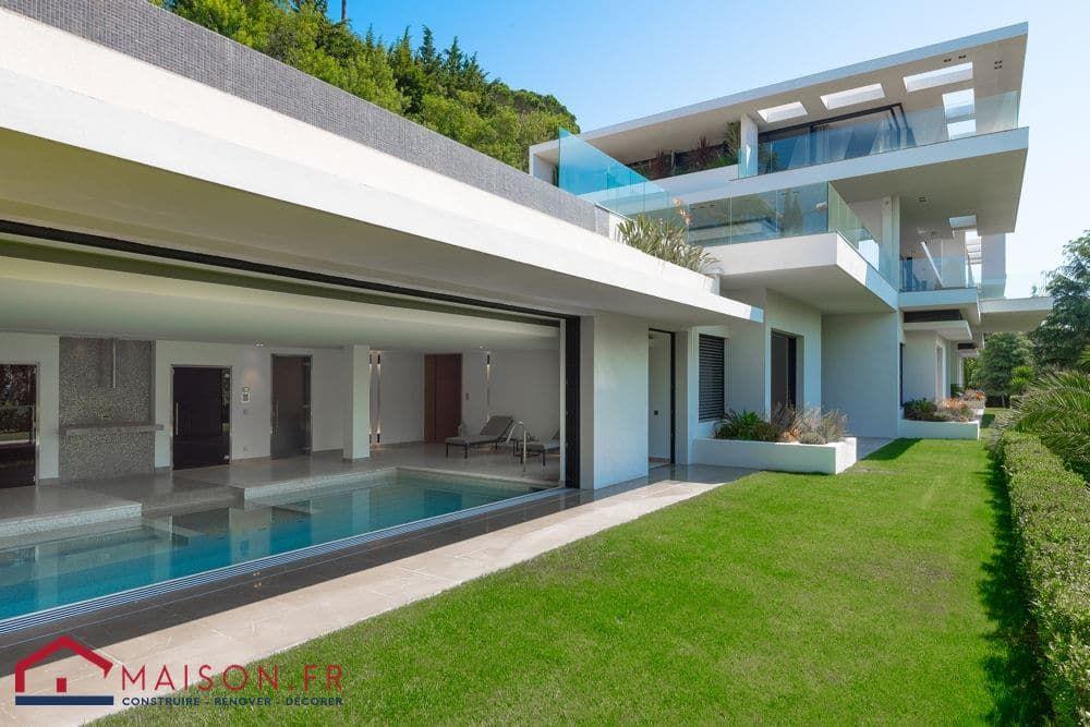 R sultat de recherche d 39 images pour plan maison piscine for Construction piscine couverte