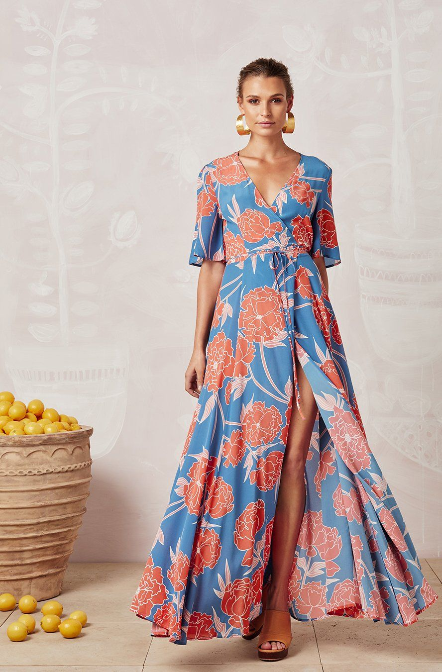 ff6b9ba220d4 SAINT TROPEZ MARLOWE SILK WRAP DRESS | Clothes inspiration ...