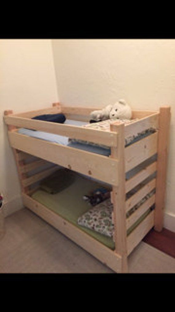 Toddler Bunk Bed Do It Yourself (DIY) Plans (fits a Crib Size