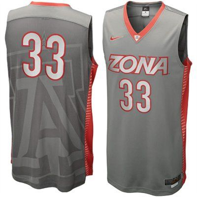 53239532883 Nike Arizona Wildcats #33 Hyper Elite Platinum Basketball Jersey - Dark Gray