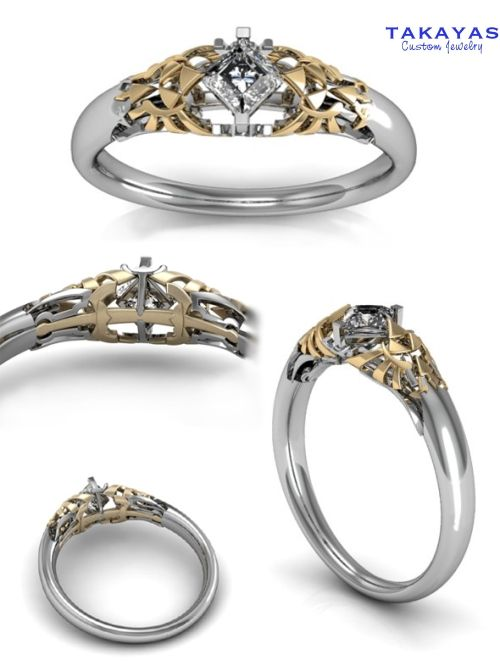 Legend Of Zelda Wedding Rings Zelda Ring Zelda Engagement Ring Geeky Wedding Rings