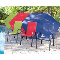 stackable patio sling chair green canadian tire outdoors rh pinterest com Walmart Sling Chairs Patio Sling Chairs