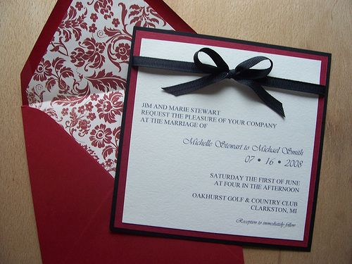 5 ways to have your own Breaking Dawn Wedding wedding blog – Black Red White Wedding Invitations