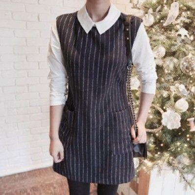 Stripes Sleeved Dress