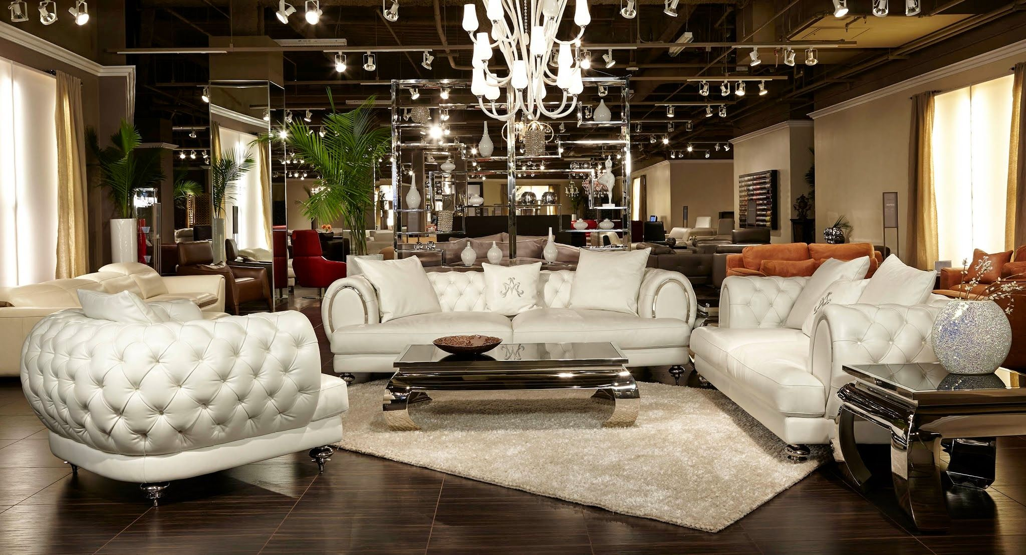 aico living room set. aico furniture - mia bella ellia leather tufted 2 piece living room set in frosted cream aico e