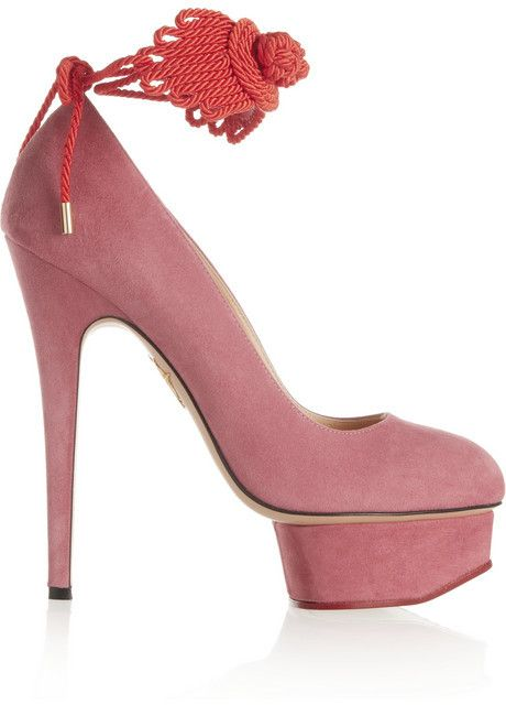 e2e54d89f52 Charlotte Olympia Eternally Dolly embellished suede pumps on shopstyle.com