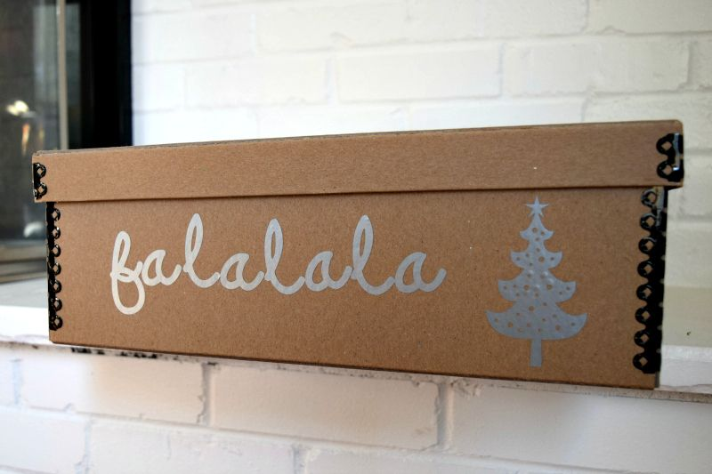 Christmas Decor Storage BoxesDIY Kraft Box Ideas