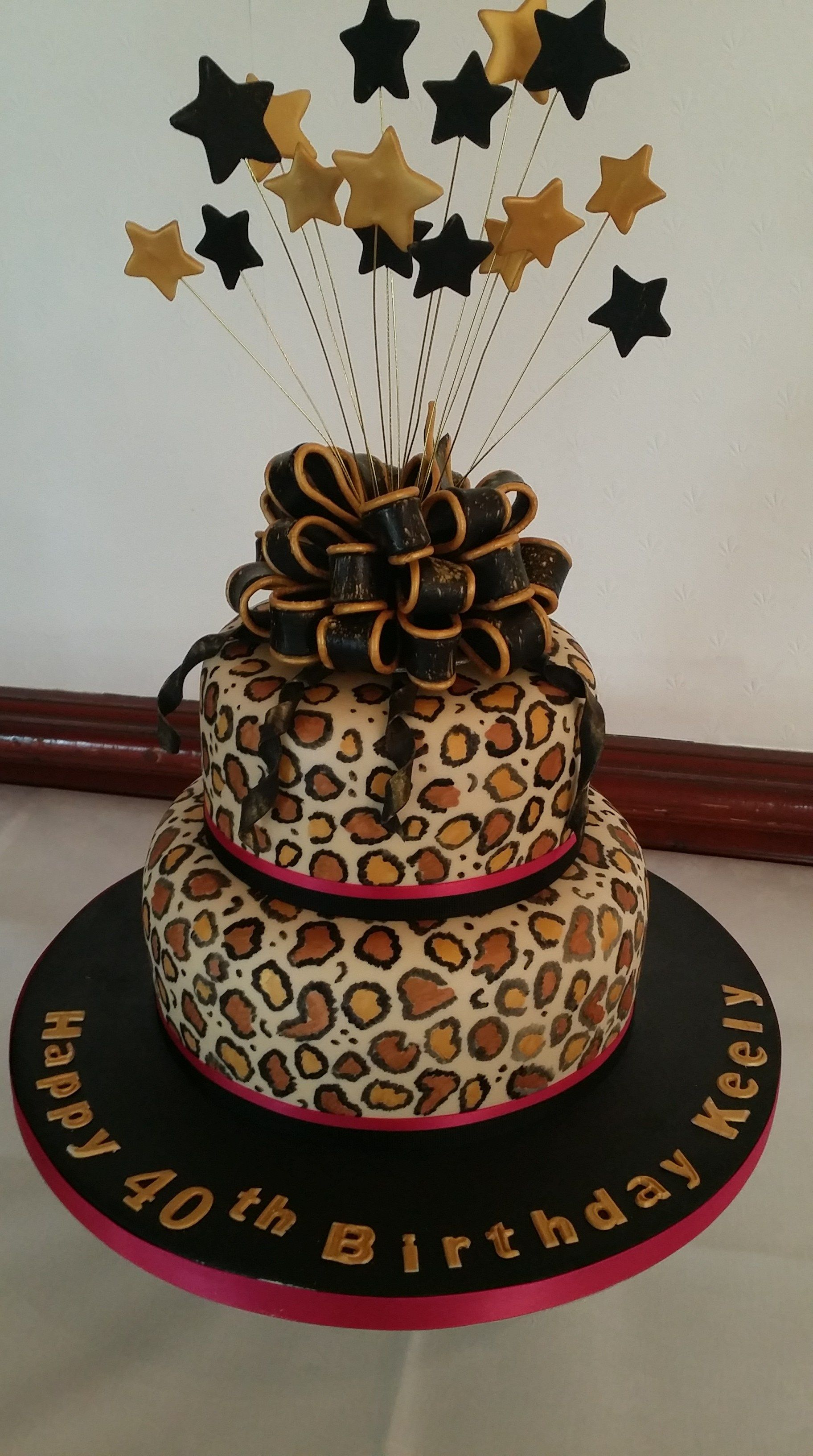 Sensational 21 Best Image Of Leopard Birthday Cake With Images 40Th Funny Birthday Cards Online Elaedamsfinfo