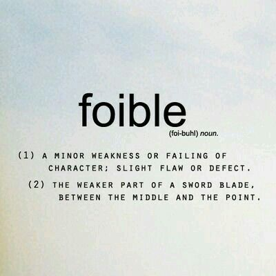 Exceptional A Lexical Entry Foible