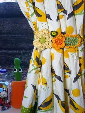 DIY Dress Up Your Curtain with a Crochet Tieback DIY Curtains DIY Home DIY Decor