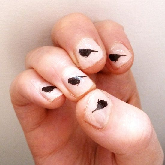 bird transfers for your nails, katebroughton, Etsy