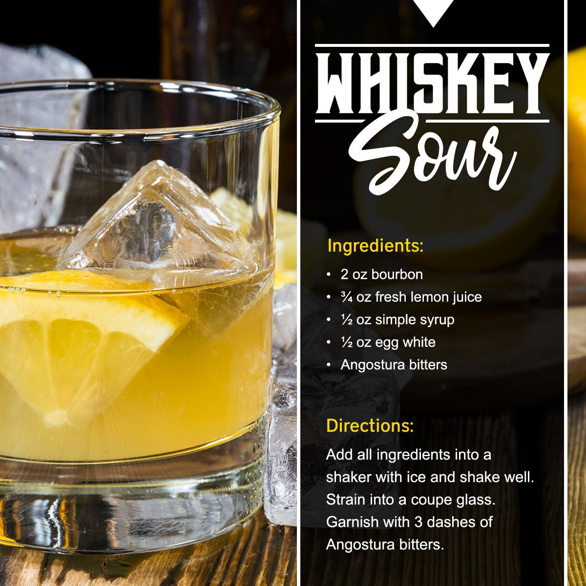Celebrate nationalwhiskeysourday with this classic recipe