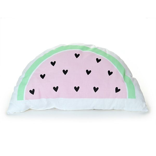 #Kussen #watermeloen - #ALittleLovelyCompany - #kinderkamer - #cushion #watermelon #kidsroom #interior #pastel #pink #littlethingz2