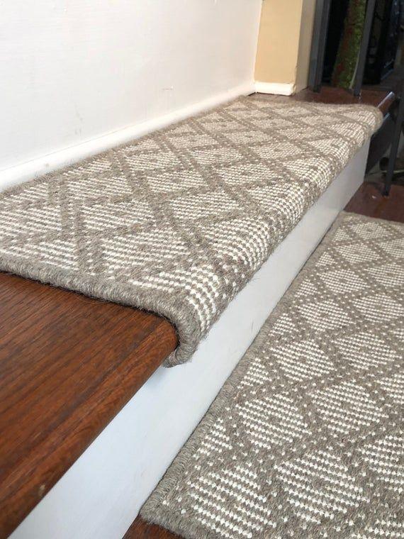 Best Padded Wool Carpet Stair Treads Tiburon Grey Carpet 400 x 300