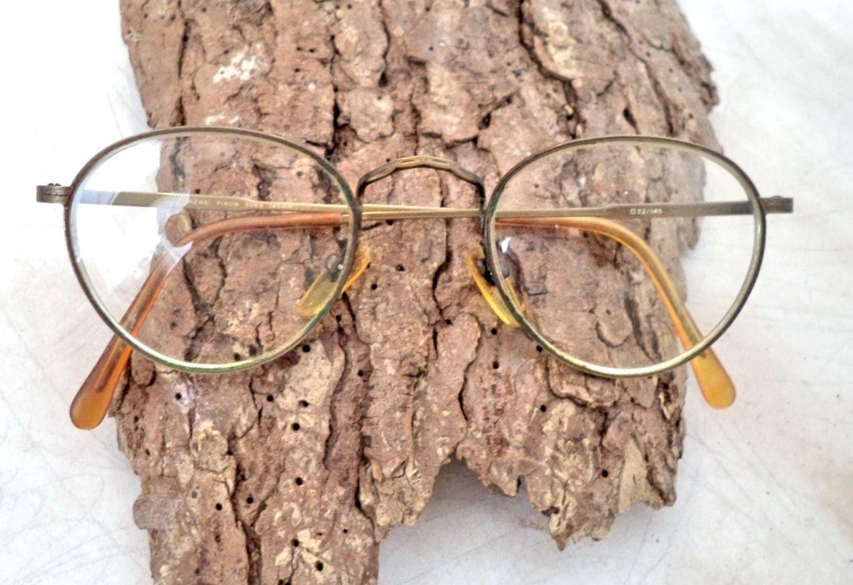 57eaf944ad5 ... Round Lennon Eyeglasses Frames Unisex Antique Gold Filigree Vintage  Sunglasses Glasses Frames Unisex 47-22 costume prop art by MushkaVintage3  on Etsy