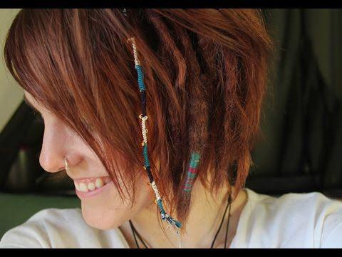 Temporary Hair Wrap Extension In Short Hair Hair Extensions For Short Hair Hippie Hair Short Hair Wraps