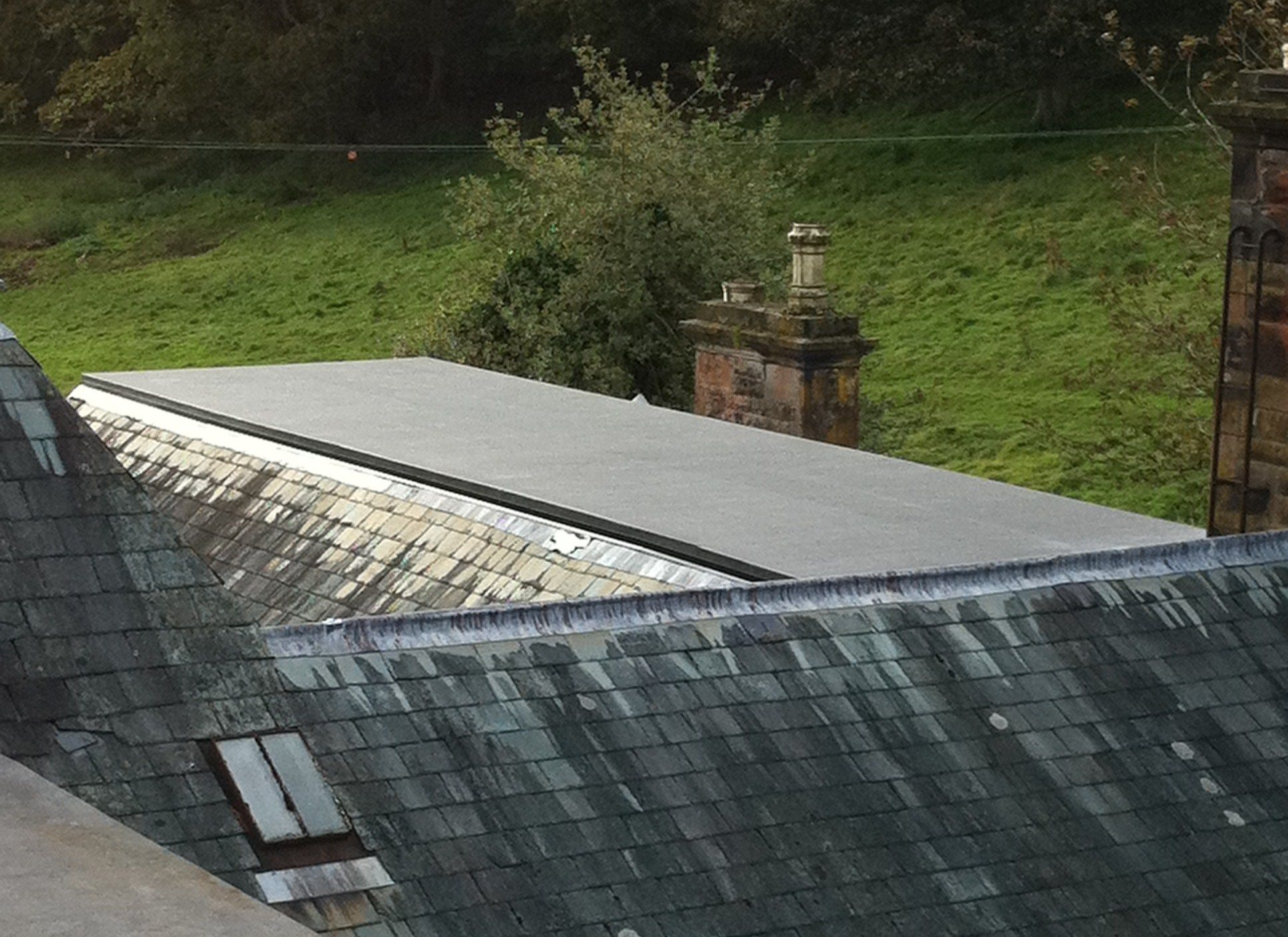 Mansard Roof Flat Roof Firestone Epdm Craftsman