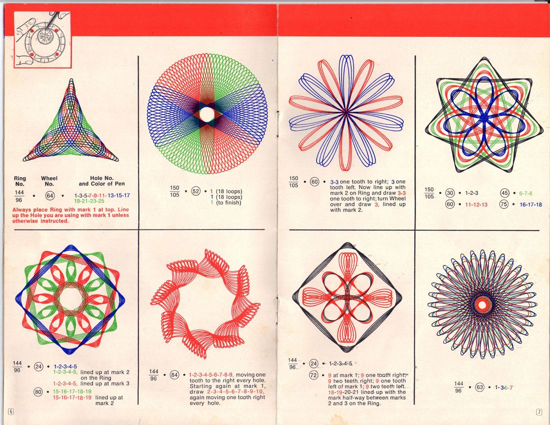 So Cool Spirograph Ideas Insert Totally Remember Trying To