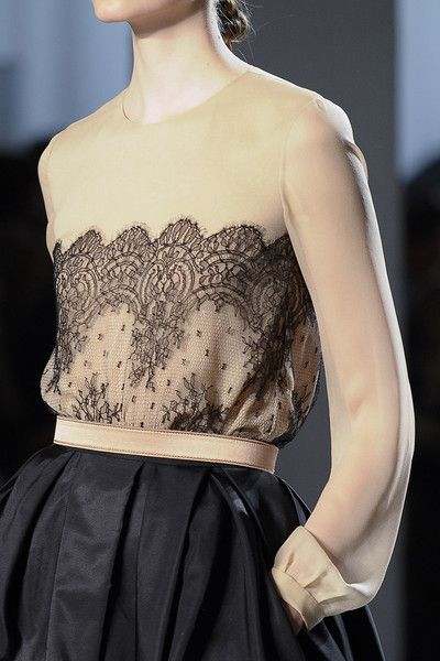 Nude and black lace. One of my favourite looks.