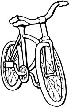 Bike For Kids Bicycle Pattern Coloring Pages