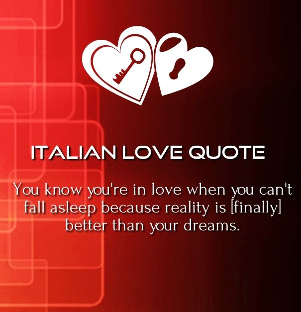 Italian Love Quotes And Meanings: Italian Love Quotes With English Translation