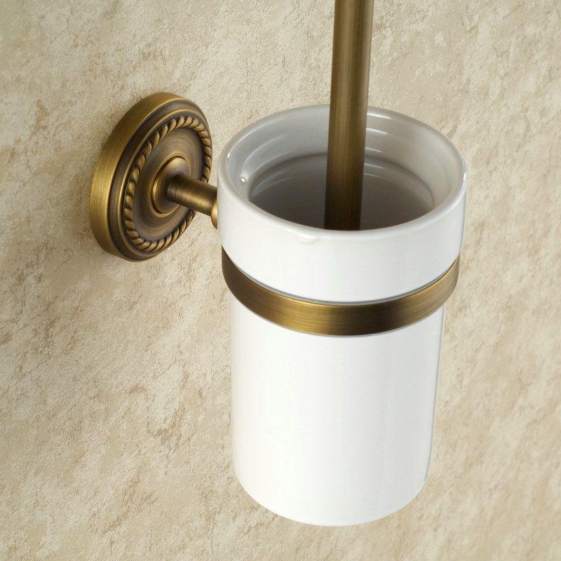 Porte de brosse à toilettes en cuivre étirage pour salle de bain