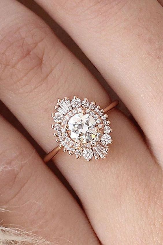 24 vintage engagement rings with stunning details unusual wedding ringsart deco - Art Deco Wedding Rings
