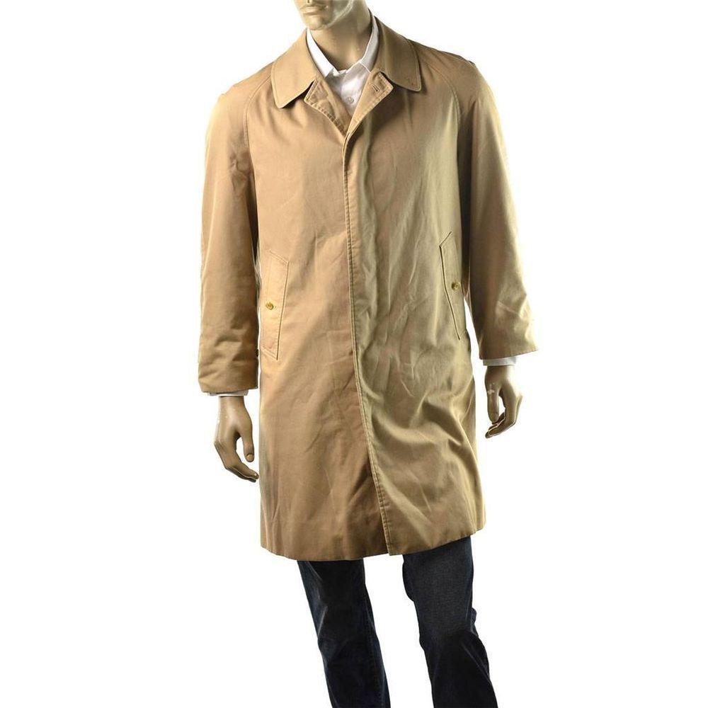 Burberry Cotton Gabardine Car Coat Mens Check Trench Jacket Vintage ...