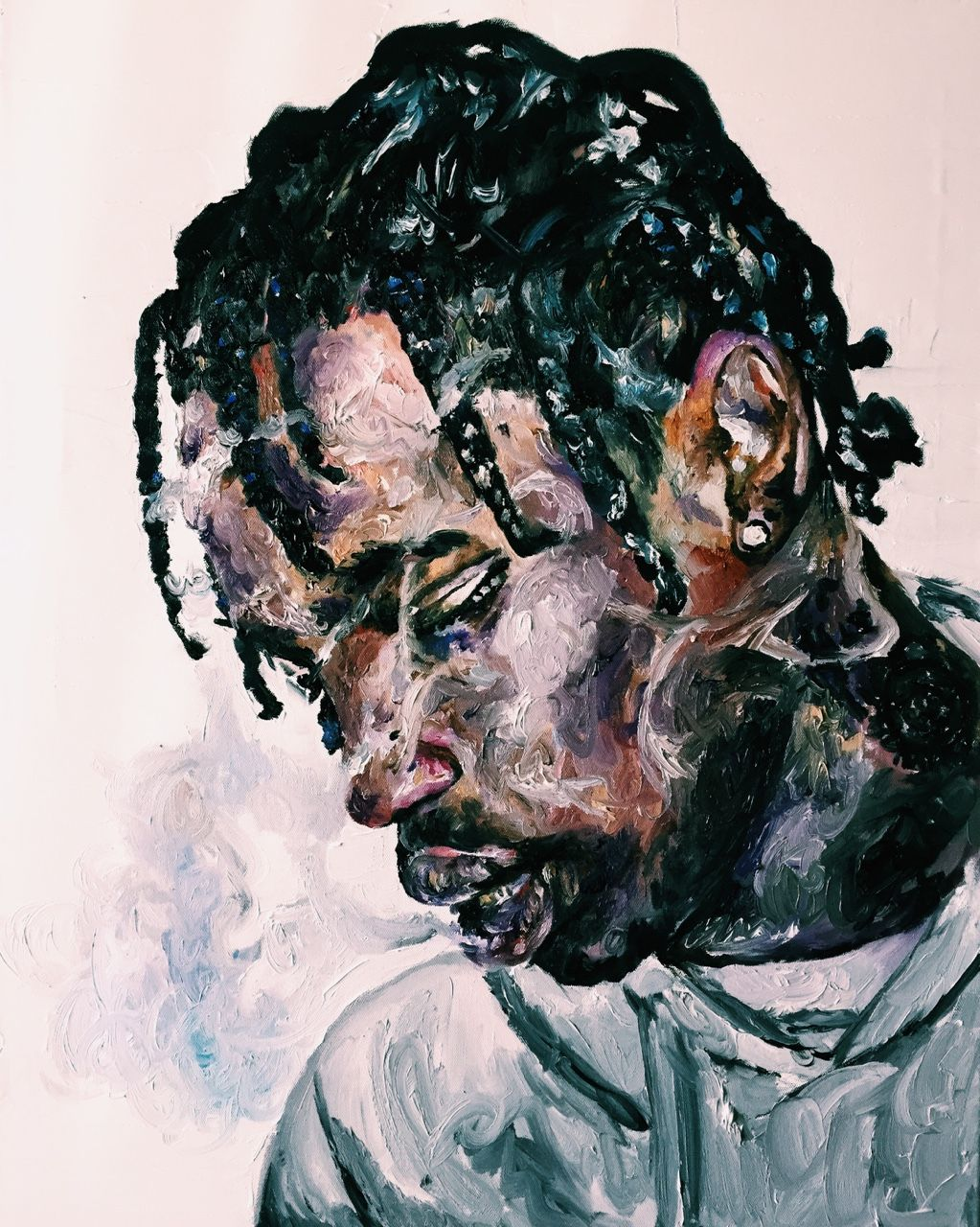 0911b36015d1 mariella-angela: Travi$ Scott | Oil on Canvas | 24x30 | room ideas ...