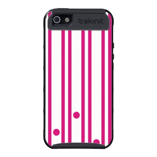 Pink Stripes and Dots iPhone 5 Cover