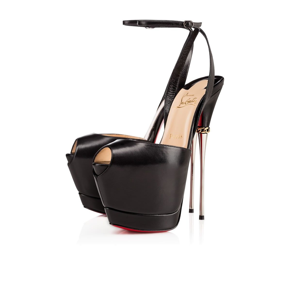 cfeff838d9b3 Love these shoes by CHRISTIAN LOUBOUTIN Despressi 170Mm Black Leather -   1395