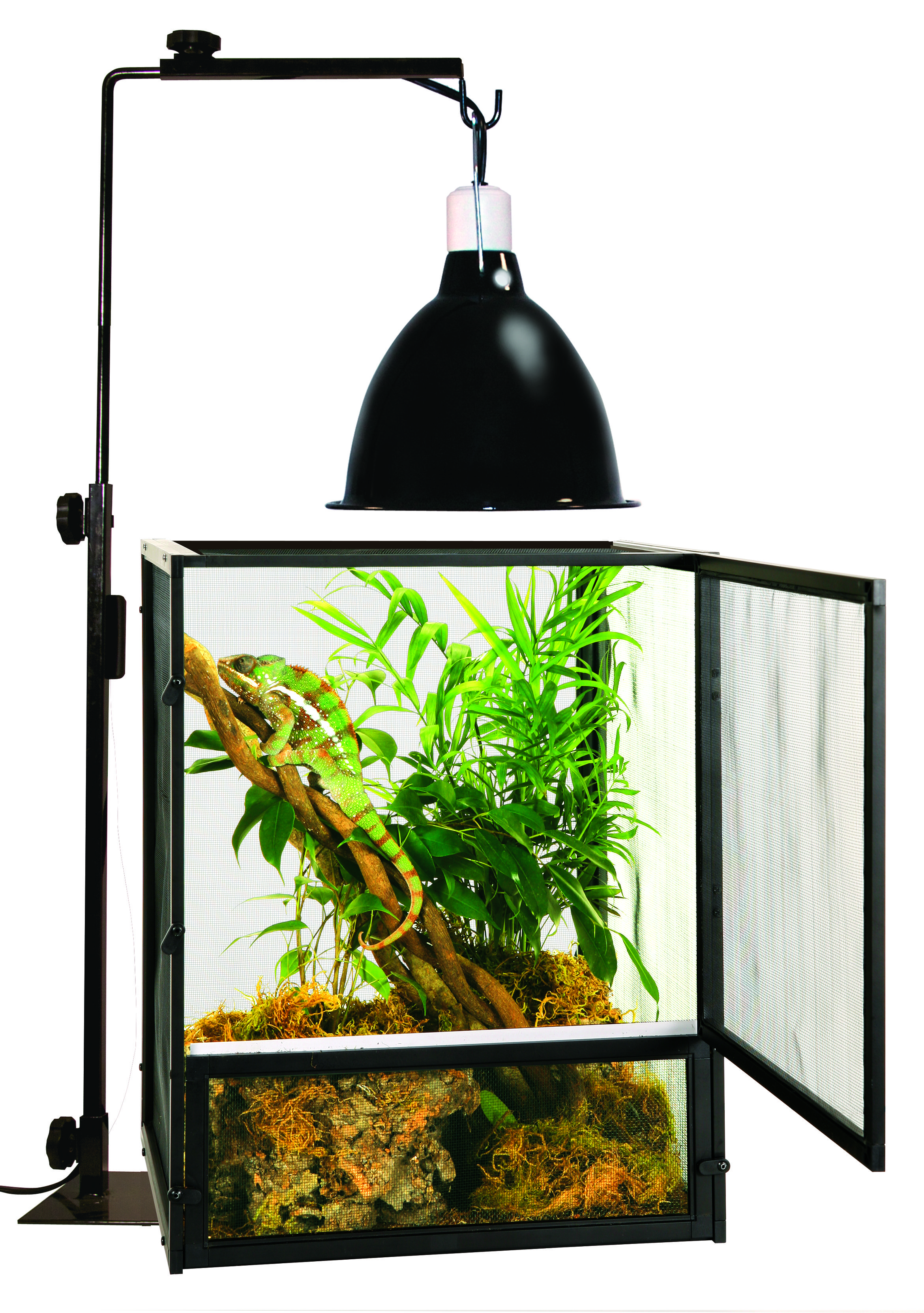 Use A Reptile Lamp Stand To Safely Suspend Any Of Zoo Medu0027s Lamp Fixtures  Or Drippers Above Your Enclosure. The Reptile Lamp Stand Is Available In  Two Sizes ...