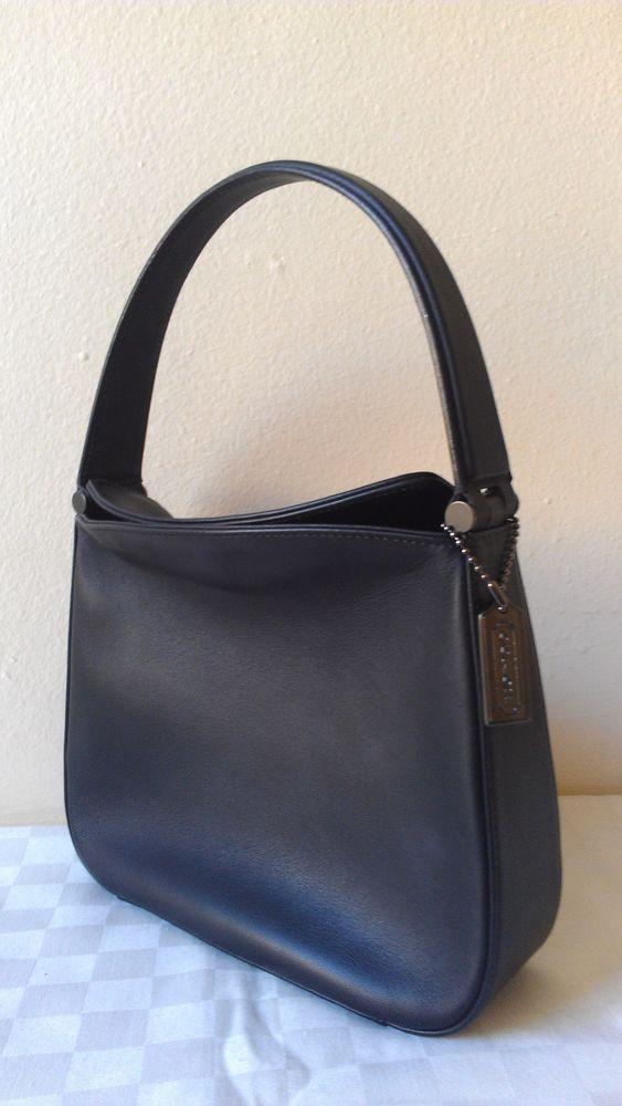 7ddeaa4eed6c Vintage Coach Whitney Mini Hobo Black Leather Bag L92-9181 EUC  Coach  Hobo