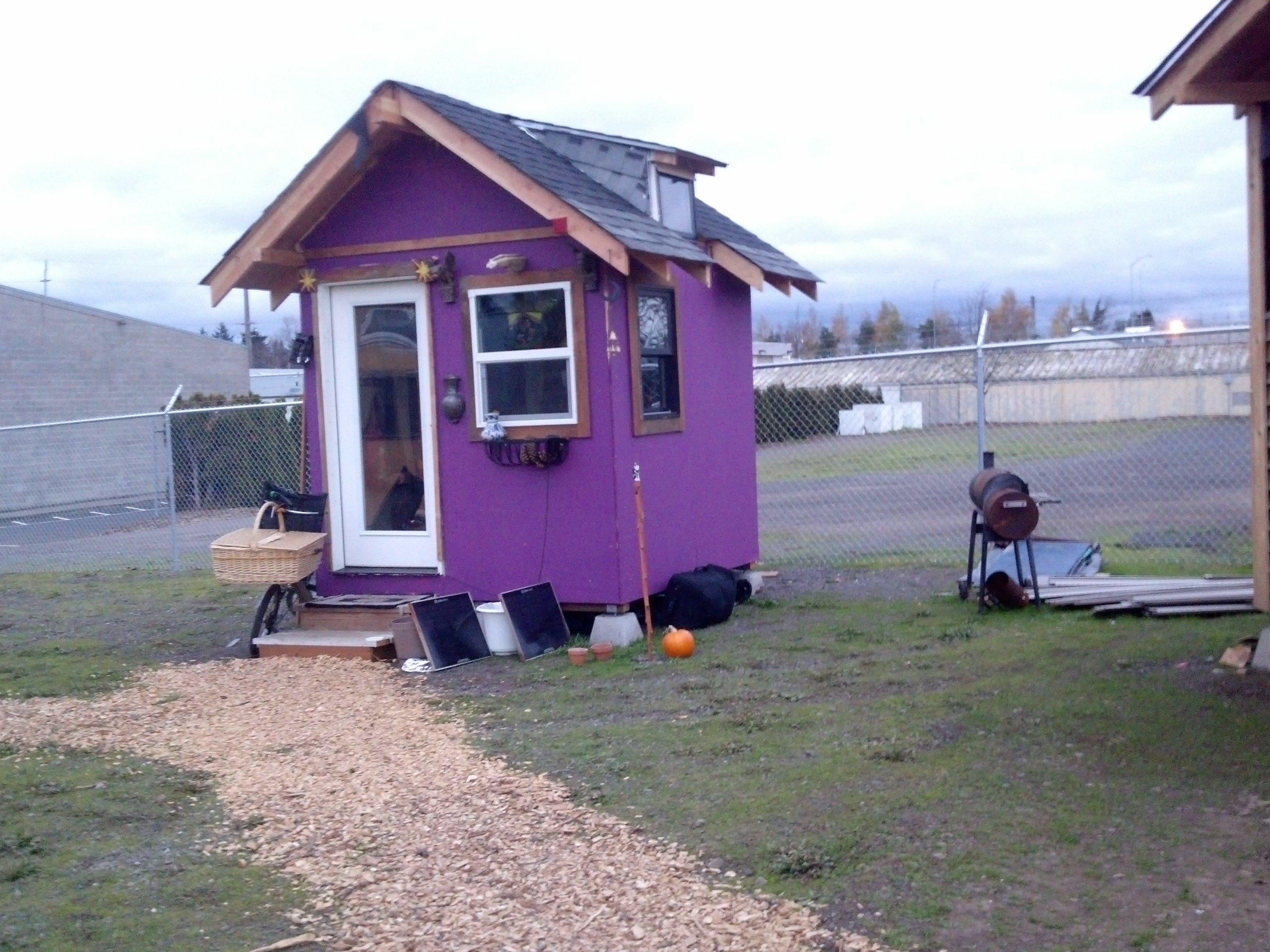One Of The Shelters In Opportunity Village In Eugene