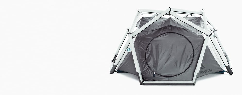 Inflatable tent - this is so cool!
