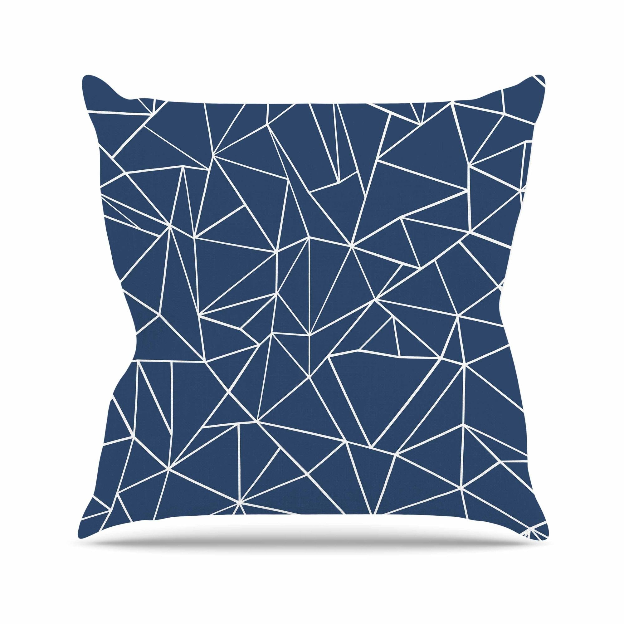 Abstraction Outline Throw Pillow