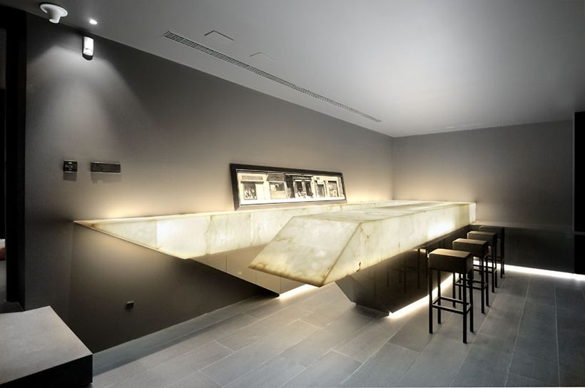Ultra Modern Concrete House By A Cero Architects Home Bar