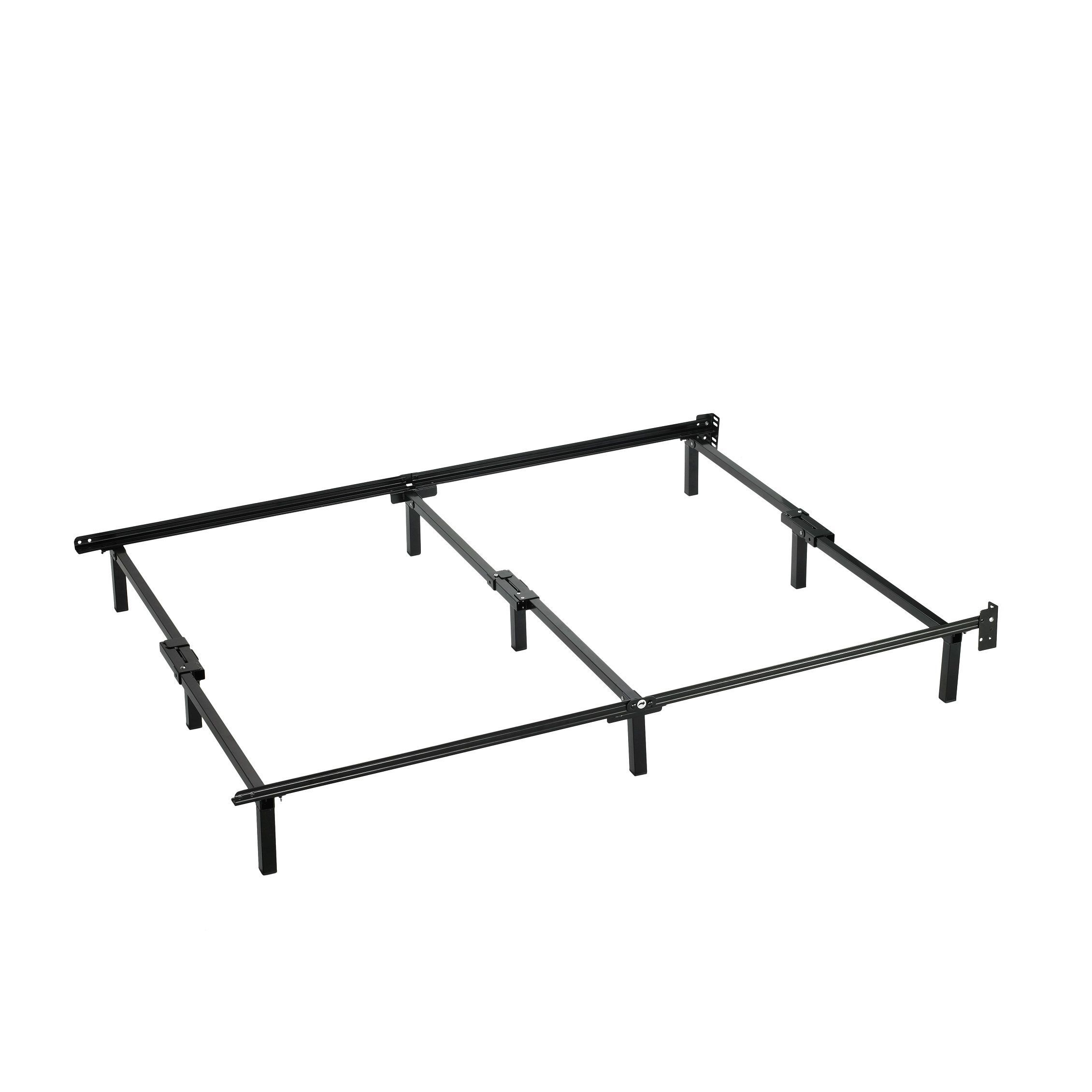 Priage Compack Black Steel Adjustable Twin To Queen Size