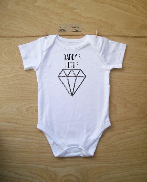 a166088b1 Daddy s Little Diamond Baby Bodysuit