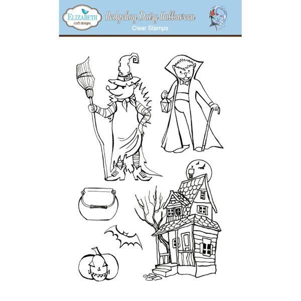 Clear Stamps - Hedgehog Daisy Halloween - ElizabethCraftDesigns.com