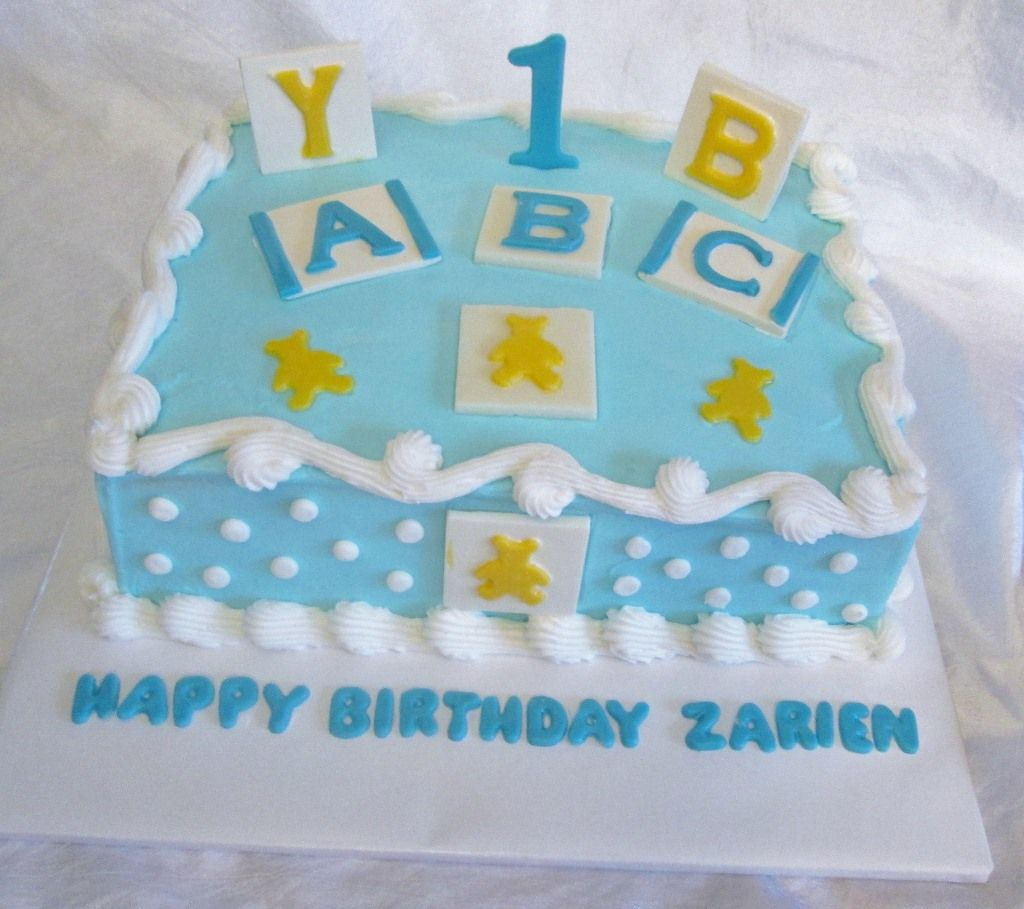 Baby Block Birthday Cake Birthday Ideas Pinterest