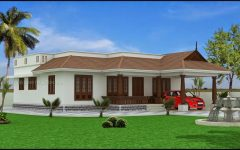 Single Floor House With Nadumuttam With Modern Home Design Elevation And Nippon Paint House Exterior And Bu House Design Kerala House Design House Front Design