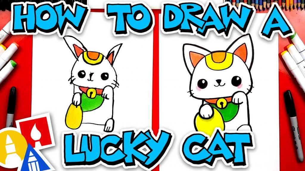 How to draw a lucky cat in 2020 lucky cat art for kids