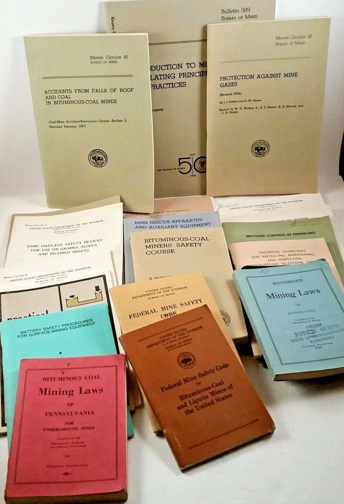 Lot 20 Coal Mining Laws Regulations Training Booklets Us Pa Dept