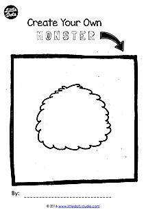 Preschool Free Printable To Create Your Own Monster A Cute