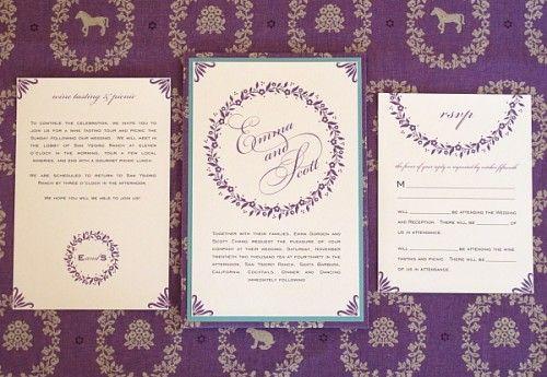 Elegant Purple Invitations