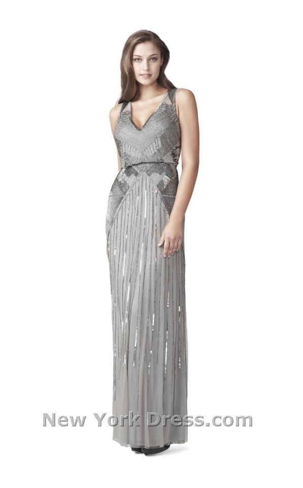 Aidan Mattox 054453280 in Silver, also avail. in Light Gold - $510 from NewYorkDress.com