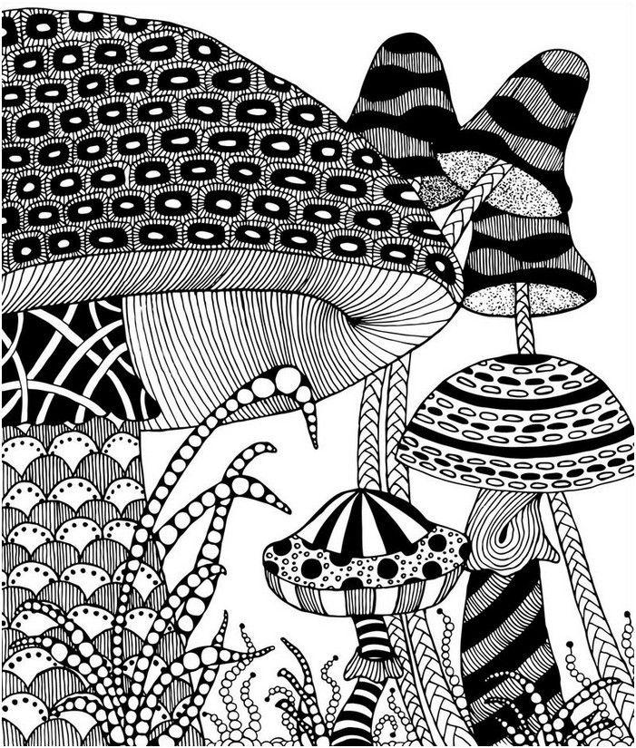 pilze im herbst  colouring pages  pinterest  pilze