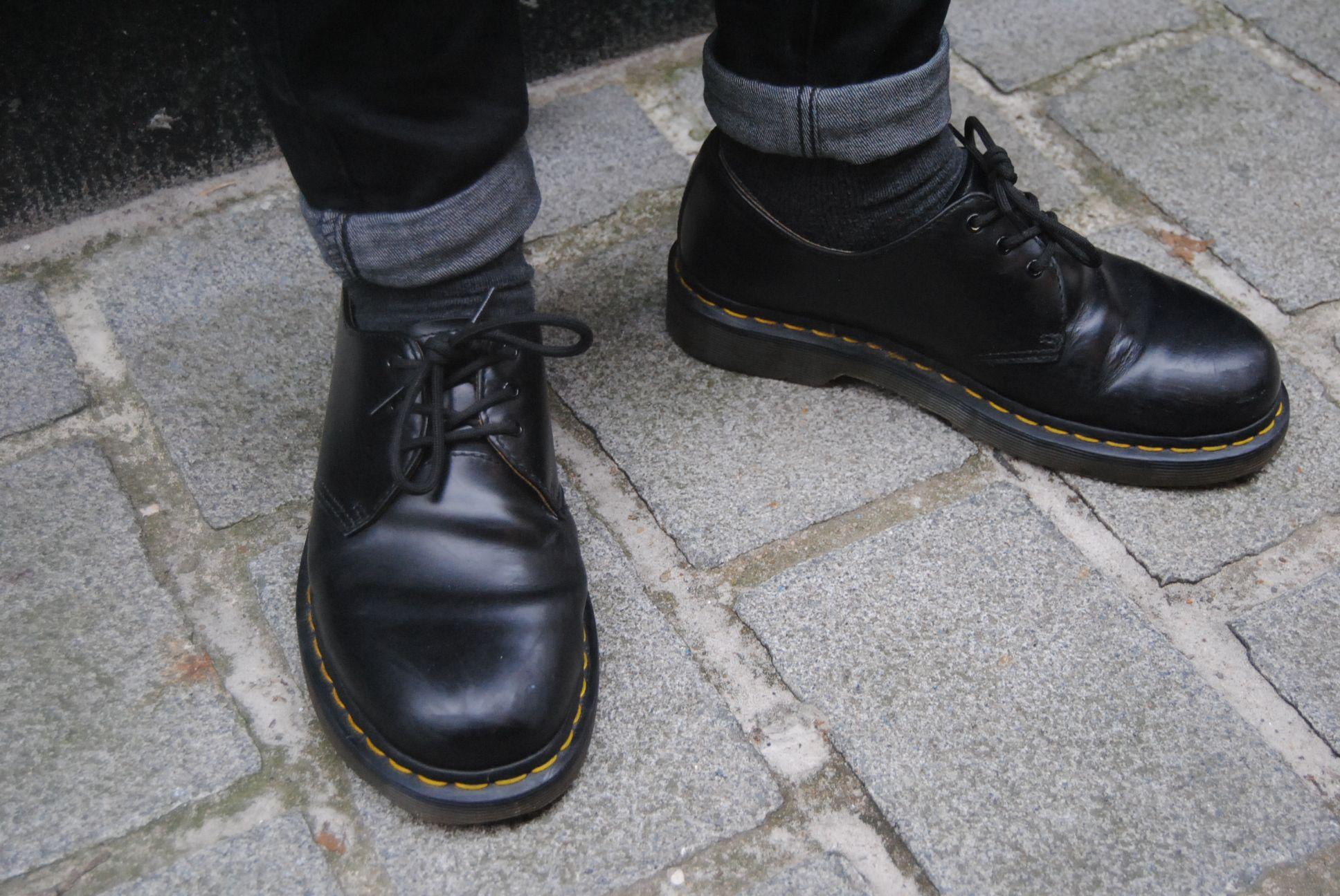 Henry wearing Black 1461s Doc Martens Black 0b23ea81665